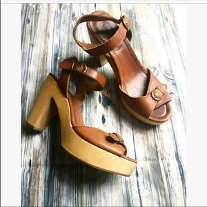 Madewell Leather Platform Sandals size 10
